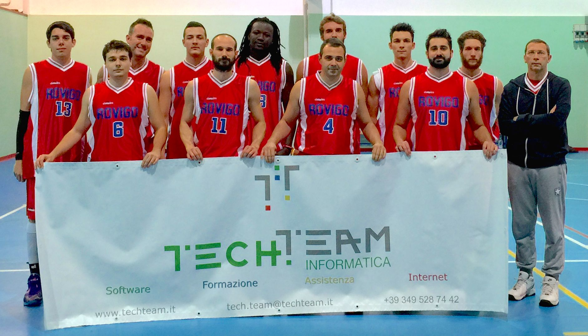 TECH.TEAM sponsor 2014 basket rovigo